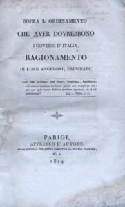 Angeloni, L., Governo italiano