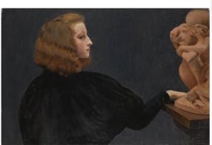 Adele, Stevens, G. Adèle et la cariatide tombée portant une pierre, 1896, mercato antiq.