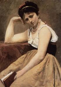 Agostina, Corot, JBC, Lettura interrotta, Museo Chicago, USA