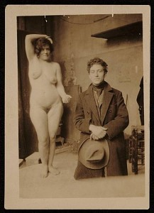 Carmela Caira  con Giacometti 1922 alla Ac. de la Grande Chaumière, Smithsonian Institute, USA
