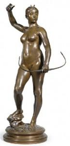 Carolina Carlesimo, Falguière A., Diana 77,5 cm, mercato ant.