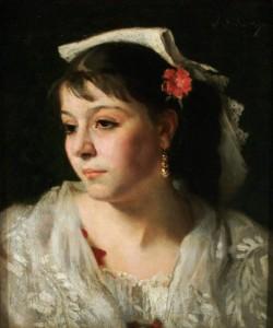 Ciociara, Sargent, J.S., Head of an Italian Woman, 45,7x38, ca.1878-81, Canajoharie Art Gall. USA