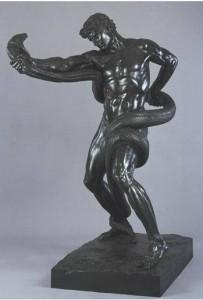 Angelo Colarossi, Leighton, Sir F., Atleta che lotta col pitone, bronzo, Museo Tate, Londra