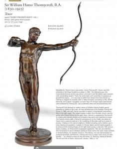 Orazio Cervi, Thornycroft, H., L'arciere, 77,4 cm, 1881, Royal Academy, Londra