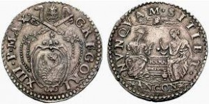 Gregorio XIII testone BER.1214