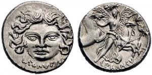 L.Plautius Plautus. Atina, 55 b.C. Cr 453,1d  RSC Plautia 15b  jpg