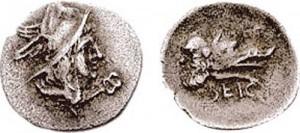 Obolo,Segni, AR   ca. 277 a.C.,