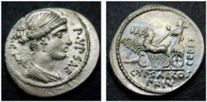 P.Plautus Hypsaeus, Atina,  Cr 420 2c