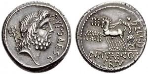 P.Plautus Hypsaeus, Atina, den.  60 a.C Crw 420,1a  Syd.910