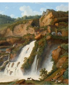 Anitrella, cascata in opera di Hackert, J.P. a 4 miglia da Isola di Sora, ca.1793
