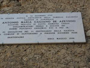 Antonio M.Cagiano de Azevedo, cardinale, Santopadre