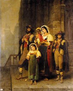 Blanc J.C. Musici girovaghi, 1860, Museo di Pau, Francia