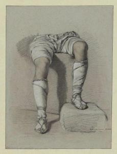 Bodinier,G. studio di gambe,Mola di Gaeta, sett.1825 Mus. Angers