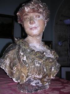 Carolina Carlesimo, Falguière A. ritratto, gesso,