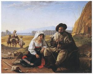 Catel, F.L., Pifferaro in campagna, 1820.