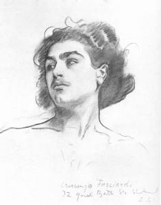 Crescenzo Fusciardi, J.S.Sargent, ,32 Great Bath St, Clerkenwell, 610x464, Harvard.