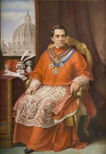Giacomo Antonelli,cardinale opera di Severati F. 31x22