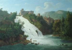 Isola del Liri, cascata del Valcatoio, opera di J.P.Hackert, 1794 65x88,5 BADV Berlin