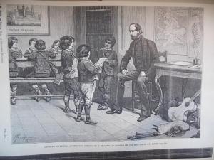 Londra, fine 1830 Scuola Italiana, G.Mazzini in cattedra e i ciociarelli