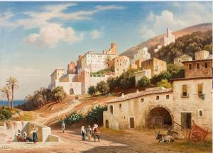 Olevano in opera di Conz, G.1864 49x66
