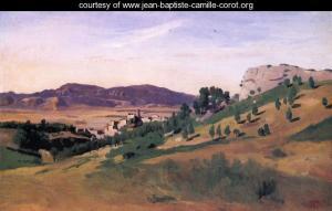 Olevano,in opera di Corot, JBC, Kimbell Art Mus.