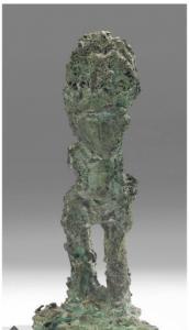 Paolozzi Edoardo, Sir,Figurina,bzo, 26,5 cm ca.1956