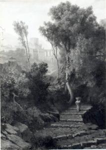 Picinisco, in opera di Curzon,De, A., 1853, 96,5x70,5 M.du Chateau,Laval