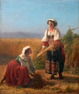 SIMONETTI, A., La mietitura del grano, coll. priv..