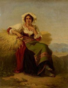 Salles, J., Mietitrice, 1861, mercato ant.