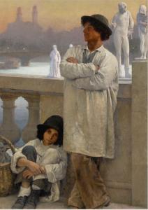 Stetten, C.E.von, Italians in Paris,1888, 159x101,5 SOTH NY 1.2.2019 n.585