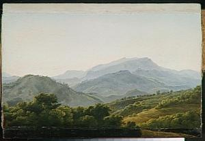 Subiaco, in opera di Bidauld, J.J.X.1789 26x45 Louvre