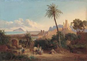 Terracina,in opera di Goetzloff K.W.,53,3x76,3, priv