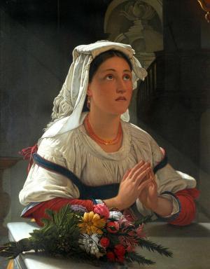Ciociara in preghiera