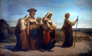 Donne di Alvito in pellegrinaggio a San      Pietro a Roma
