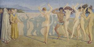 Allegoria della Commedia e della Musica,  158x358, mercato ant
