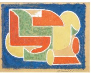 Composizione, 1934, 22x27 cm, tec. m.  mercato ant.