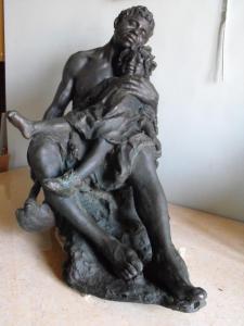 Figlia del lavoro, bronzo, 54 cm, coll.priv