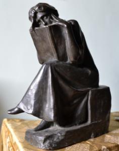 Lettrice, bronzo, h.45,5 cm, coll. priv.