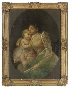 Maternità, o-te, 99,7x75 cm, coll.priv.