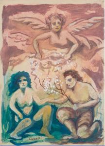 Rito nuziale, 1922, 45x33 cm, temp. mercato ant.