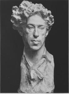 Ritratto del Maestro Bruno Barilli, terracotta, 1925, Sapori, LXIX n.414 p