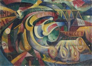 Roulette à Montmartre, 1915, 70x98 cm, ol-tela, mercato ant.