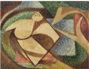 Senza titolo, 38x50 cm, 1960, o-te, mercato ant.